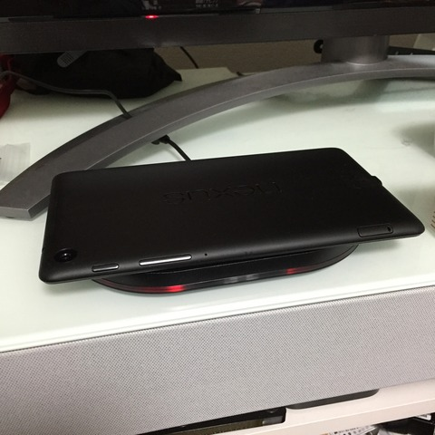 Nexus7でパナの無接点充電パッド「QE-TM102」を使う